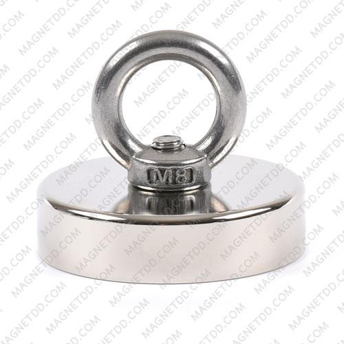 Mounting Magnet ขนาด 60mm พร้อมห่วง แม่เหล็กถาวรนีโอไดเมี่ยม NdFeB (Neodymium)