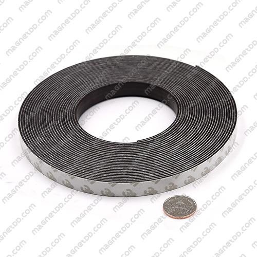 แม่เหล็กยางสติกเกอร์ 3M ขนาด 12.7mm x 1.5mm ยาว 10เมตร - ยกม้วน แม่เหล็กถาวรยาง Flexible Rubber Magnets