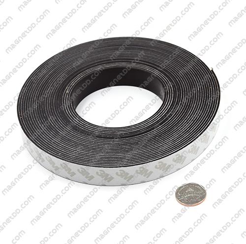แม่เหล็กยางสติกเกอร์ 3M ขนาด 20mm x 1.5mm ยาว 10เมตร - ยกม้วน แม่เหล็กถาวรยาง Flexible Rubber Magnets