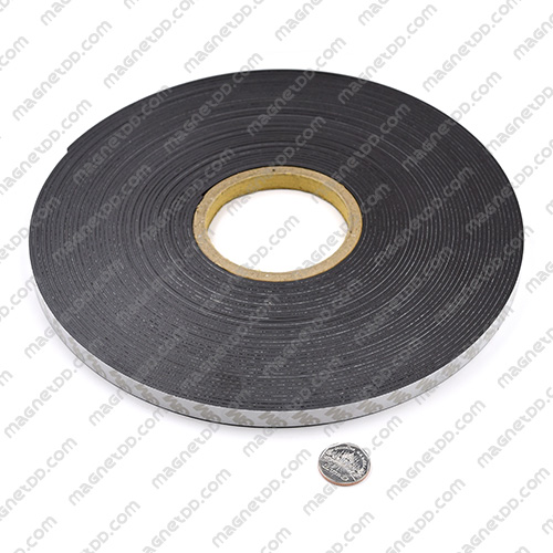 แม่เหล็กยางสติกเกอร์ 3M ขนาด 12mm x 2mm ยาว 20เมตร - ยกม้วน แม่เหล็กถาวรยาง Flexible Rubber Magnets