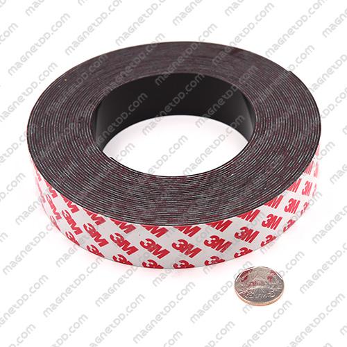 แม่เหล็กยางสติกเกอร์ 3M ขนาด 30mm x 1mm ยาว 10เมตร - ยกม้วน แม่เหล็กถาวรยาง Flexible Rubber Magnets