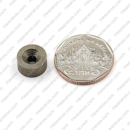 แม่เหล็กแรงสูงทนความร้อน Samarium 12mm x 6mm วงใน 3.5mm แม่เหล็กแรงสูง ทนความร้อน Samarium Cobalt 350C