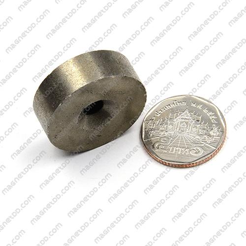 แม่เหล็กแรงสูงทนความร้อน Samarium 30mm x 10mm วงใน 6mm แม่เหล็กแรงสูง ทนความร้อน Samarium Cobalt 350C