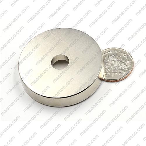 แม่เหล็กแรงสูง โดนัท Neodymium ขนาด 50mm x 10mm วงใน 10mm แม่เหล็กถาวรนีโอไดเมี่ยม NdFeB (Neodymium)