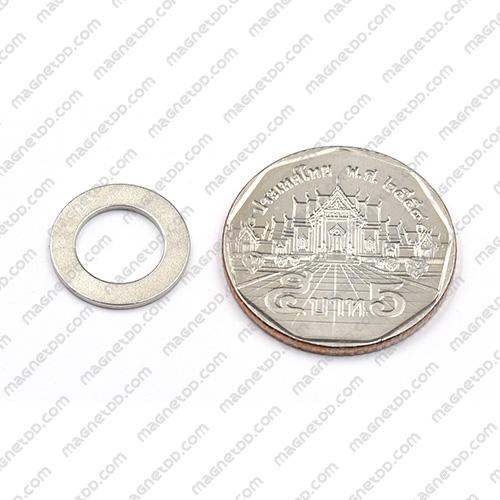 แม่เหล็กแรงสูง Neodymium 14.3mm x 1mm วงใน 9mm [ชุด 10 ชิ้น] แม่เหล็กถาวรนีโอไดเมี่ยม NdFeB (Neodymium)