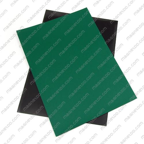 แม่เหล็กยาง A4 ขนาด 297mm x 210mm x 0.5mm - สีเขียว แม่เหล็กถาวรยาง Flexible Rubber Magnets