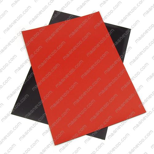 แม่เหล็กยาง A4 ขนาด 297mm x 210mm x 0.5mm - สีแดง แม่เหล็กถาวรยาง Flexible Rubber Magnets