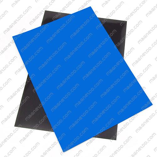 แม่เหล็กยาง A4 ขนาด 297mm x 210mm x 0.5mm - สีฟ้า แม่เหล็กถาวรยาง Flexible Rubber Magnets