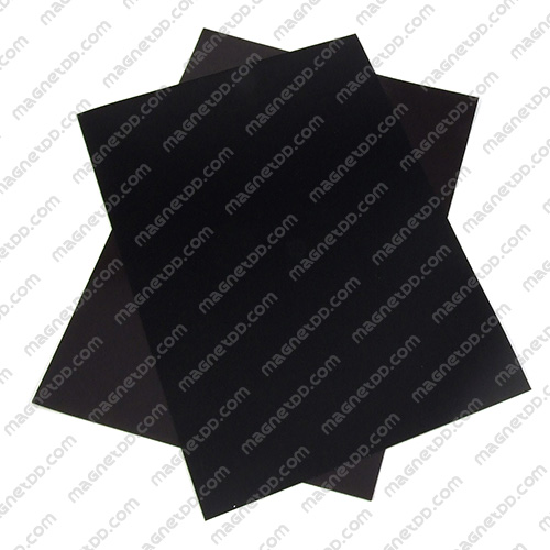 แม่เหล็กยาง A4 ขนาด 297mm x 210mm x 0.5mm - สีดำ แม่เหล็กถาวรยาง Flexible Rubber Magnets