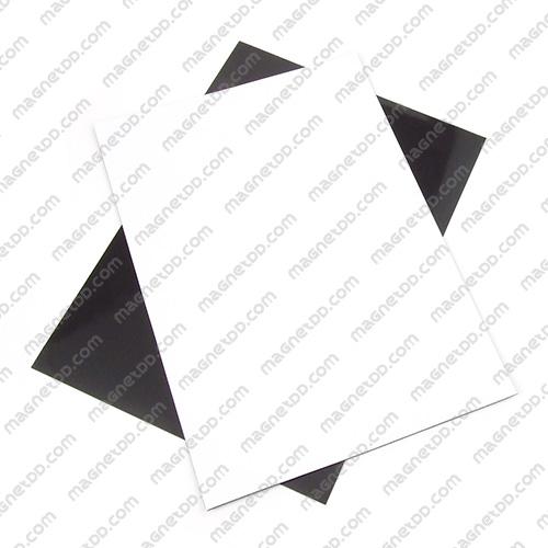 แม่เหล็กยาง A4 ขนาด 297mm x 210mm x 0.5mm - สีขาว แม่เหล็กถาวรยาง Flexible Rubber Magnets