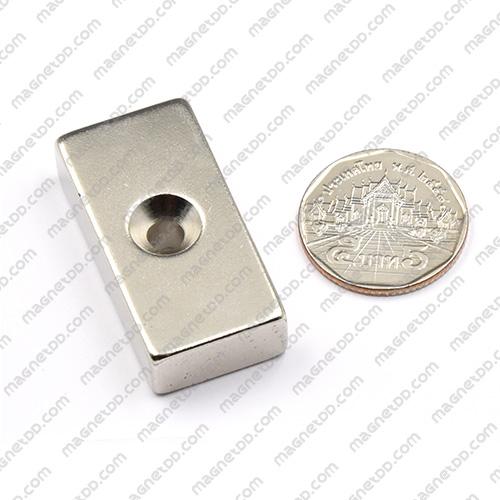 แม่เหล็กแรงสูง Neodymium ขนาด 40mm x 20mm x 10mm รู 5mm แม่เหล็กถาวรยาง Flexible Rubber Magnets