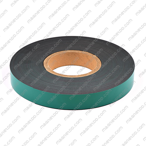 แม่เหล็กยาง ขนาด 25mm x 1mm ยาว 18เมตร ยกม้วน - สีเขียว แม่เหล็กถาวรยาง Flexible Rubber Magnets