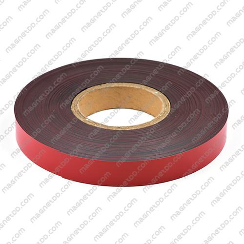 แม่เหล็กยาง ขนาด 25mm x 1mm ยาว 18เมตร ยกม้วน - สีแดง แม่เหล็กถาวรยาง Flexible Rubber Magnets