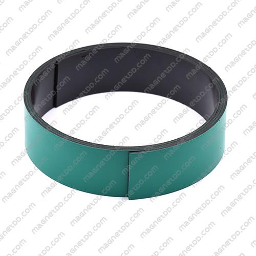 แม่เหล็กยาง ขนาด 25mm x 1mm ยาว 1เมตร - สีเขียว แม่เหล็กถาวรยาง Flexible Rubber Magnets