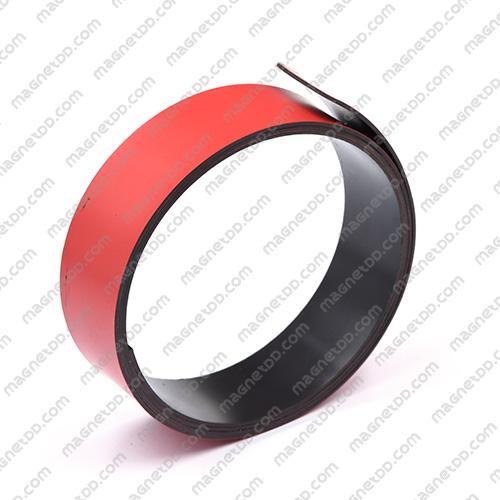 แม่เหล็กยาง ขนาด 25mm x 1mm สีแดง - ยาว 1เมตร แม่เหล็กถาวรยาง Flexible Rubber Magnets