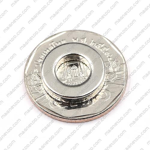 แม่เหล็กแรงสูง Neodymium ขนาด 15mm x 3mm วงใน 8mm แม่เหล็กถาวรนีโอไดเมี่ยม NdFeB (Neodymium)