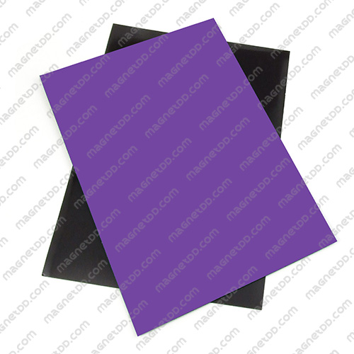 แม่เหล็กยาง A4 ขนาด 297mm x 210mm x 0.5mm - สีม่วง แม่เหล็กถาวรยาง Flexible Rubber Magnets