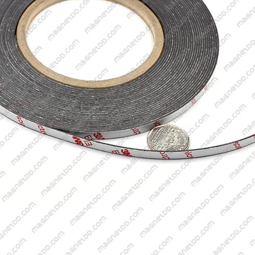 แม่เหล็กยางสติกเกอร์ 3M ขนาด 6mm x 1mm ยาว 10เมตร - ยกม้วน แม่เหล็กถาวรยาง Flexible Rubber Magnets
