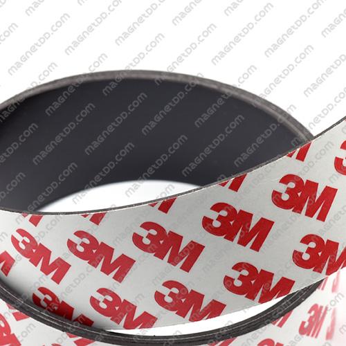 แม่เหล็กยางสติกเกอร์ 3M ขนาด 30mm x 1mm ยาว 1เมตร แม่เหล็กถาวรยาง Flexible Rubber Magnets