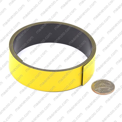 แม่เหล็กยาง ขนาด 25mm x 1mm ยาว 1เมตร - สีเหลือง แม่เหล็กถาวรยาง Flexible Rubber Magnets