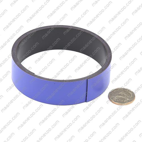 แม่เหล็กยาง ขนาด 25mm x 1mm ยาว 1เมตร - สีม่วง แม่เหล็กถาวรยาง Flexible Rubber Magnets