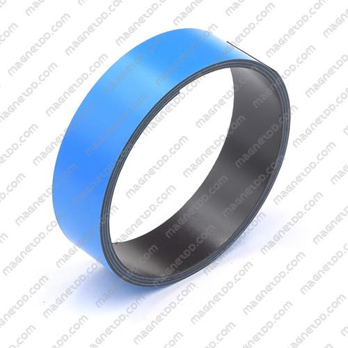 แม่เหล็กยาง ขนาด 25mm x 1mm ยาว 1เมตร - สีฟ้า แม่เหล็กถาวรยาง Flexible Rubber Magnets