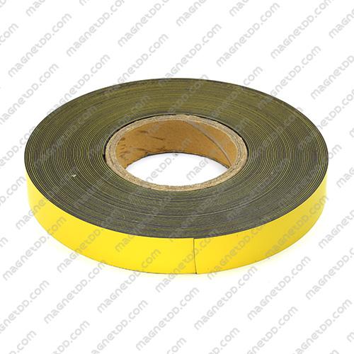 แม่เหล็กยาง ขนาด 25mm x 1mm ยาว 18เมตร ยกม้วน - สีเหลือง แม่เหล็กถาวรยาง Flexible Rubber Magnets