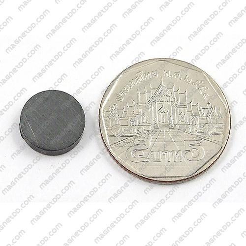 แม่เหล็กเฟอร์ไรท์ Ferrite ขนาด 12mm x 3mm แม่เหล็กถาวรเฟอร์ไรท์ (แม่เหล็กดำ) Ferrite