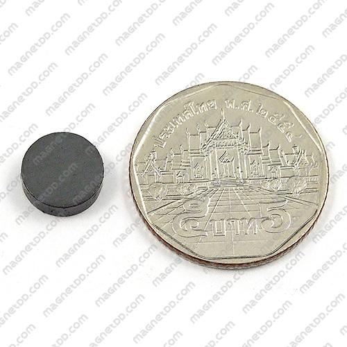 แม่เหล็กเฟอร์ไรท์ Ferrite ขนาด 10mm x 3mm แม่เหล็กถาวรเฟอร์ไรท์ (แม่เหล็กดำ) Ferrite