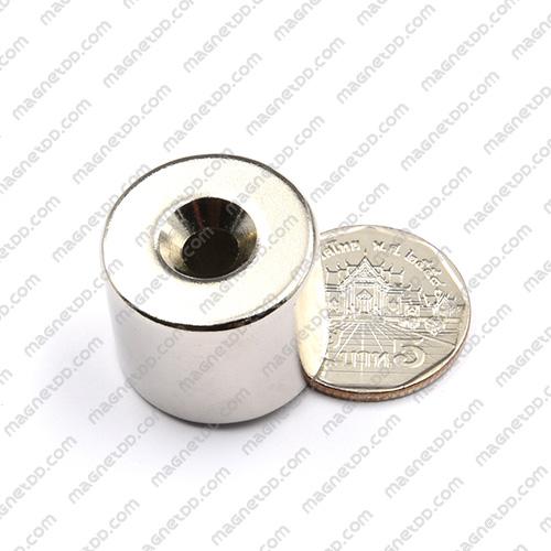 แม่เหล็กแรงสูง โดนัท 24.50mm x 20mm วงใน 6mm แม่เหล็กถาวรนีโอไดเมี่ยม NdFeB (Neodymium)