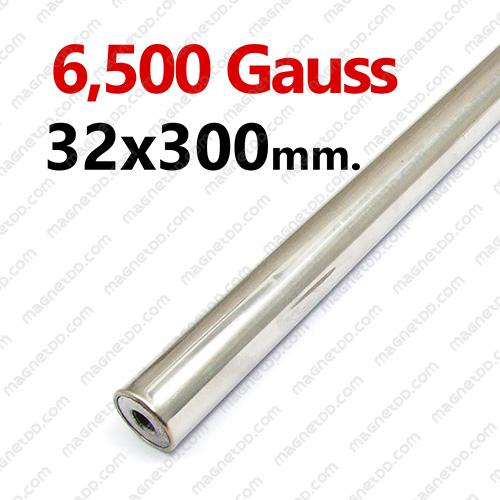 แมกเนติกบาร์ ขนาด 32mm x 300mm Magnetic Bar 6500G แม่เหล็กถาวรนีโอไดเมี่ยม NdFeB (Neodymium)