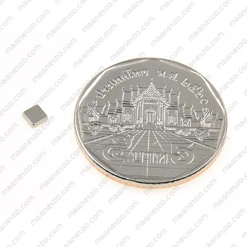 แม่เหล็กแรงสูง Neodymium 3mm x 3mm x 1mm - ชุด 100ชิ้น แม่เหล็กถาวรนีโอไดเมี่ยม NdFeB (Neodymium)