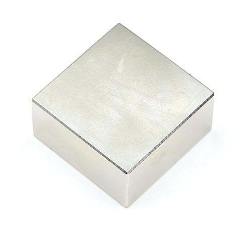 แม่เหล็กแรงสูง Neodymium ขนาด 40mm x 40mm x 20mm แม่เหล็กถาวรนีโอไดเมี่ยม NdFeB (Neodymium)