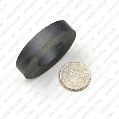 แม่เหล็กเฟอร์ไรท์ โดนัท 50mm x 10mm วงใน 25mm แม่เหล็กถาวรเฟอร์ไรท์ (แม่เหล็กดำ) Ferrite
