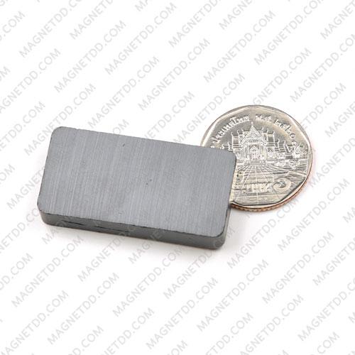 แม่เหล็กเฟอร์ไรท์ 40mm x 20mm x 7mm แม่เหล็กถาวรเฟอร์ไรท์ (แม่เหล็กดำ) Ferrite