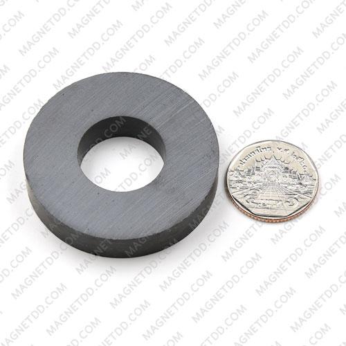แม่เหล็กเฟอร์ไรท์ โดนัท 50mm x 10mm วงใน 22mm แม่เหล็กถาวรเฟอร์ไรท์ (แม่เหล็กดำ) Ferrite