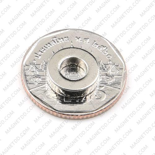 แม่เหล็กแรงสูง Neodymium ขนาด 12mm x 3mm วงใน 6mm แม่เหล็กถาวรนีโอไดเมี่ยม NdFeB (Neodymium)