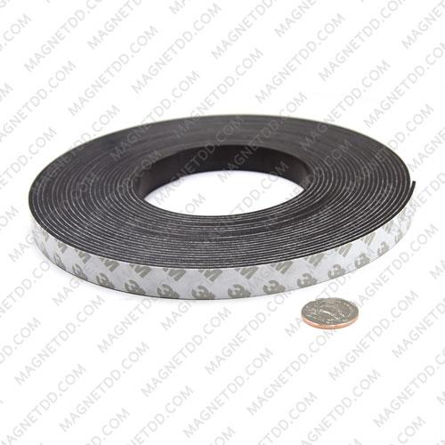 แม่เหล็กยางสติกเกอร์ 3M ขนาด 15mm x 2mm ยาว 10เมตร - ยกม้วน แม่เหล็กถาวรยาง Flexible Rubber Magnets