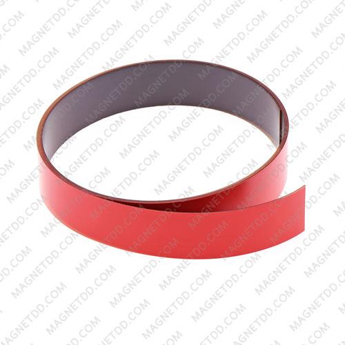 แม่เหล็กยาง เคลือบ PVC ขนาด 20mm x 0.5mm ยาว 1เมตร – สีแดง แม่เหล็กถาวรยาง Flexible Rubber Magnets