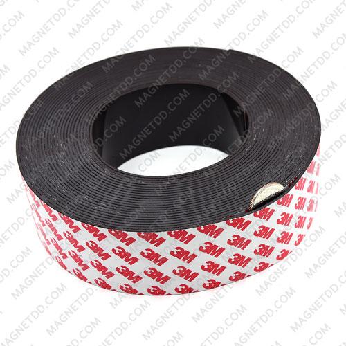 แม่เหล็กยางสติกเกอร์ 3M ขนาด 50mm x 1.5mm ยาว 10เมตร - ยกม้วน แม่เหล็กถาวรยาง Flexible Rubber Magnets