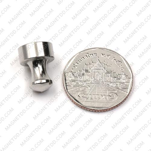 พินแม่เหล็กแรงสูง Magnetic Push Pins 12mm x 16mm สีเงิน แม่เหล็กถาวรนีโอไดเมี่ยม NdFeB (Neodymium)