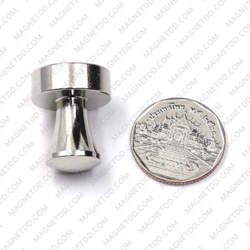 พินแม่เหล็กแรงสูง Magnetic Push Pins 20mm x 25mm สีเงิน แม่เหล็กถาวรนีโอไดเมี่ยม NdFeB (Neodymium)