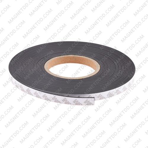 แม่เหล็กยางสติกเกอร์ 3M ขนาด 12mm x 2mm ยาว 10เมตร - ยกม้วน แม่เหล็กถาวรยาง Flexible Rubber Magnets