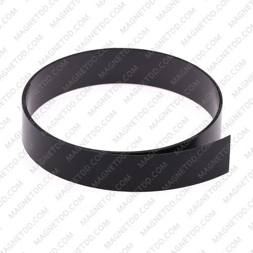 แม่เหล็กยาง เคลือบ PVC ขนาด 20mm x 0.5mm ยาว 1เมตร – สีดำ แม่เหล็กถาวรยาง Flexible Rubber Magnets