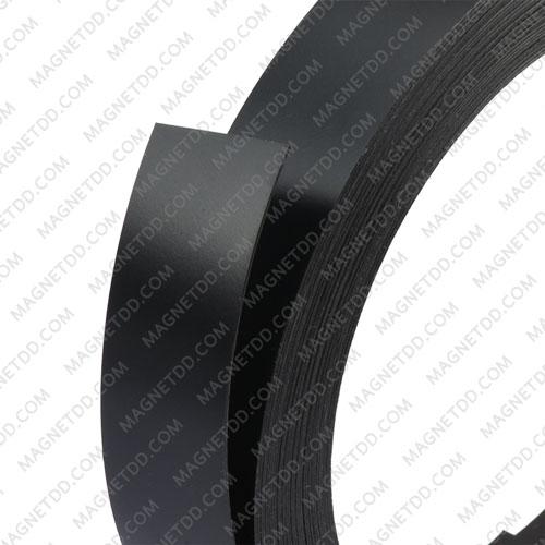 แม่เหล็กยาง เคลือบ PVC ขนาด 20mm x 0.5mm ยาว 10เมตร – สีดำ แม่เหล็กถาวรยาง Flexible Rubber Magnets