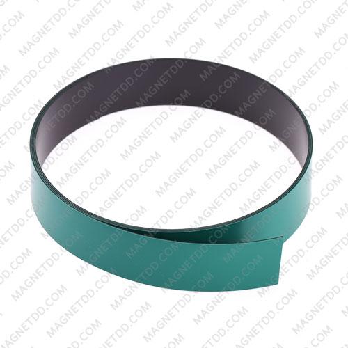 แม่เหล็กยาง เคลือบ PVC ขนาด 20mm x 0.5mm ยาว 1เมตร – สีเขียว แม่เหล็กถาวรยาง Flexible Rubber Magnets