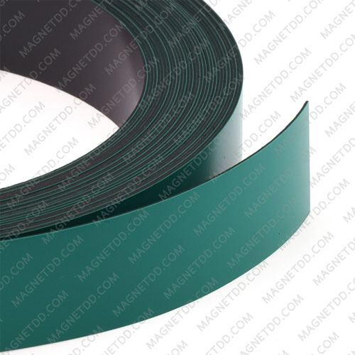 แม่เหล็กยาง เคลือบ PVC ขนาด 20mm x 0.5mm ยาว 10เมตร – สีเขียว แม่เหล็กถาวรยาง Flexible Rubber Magnets