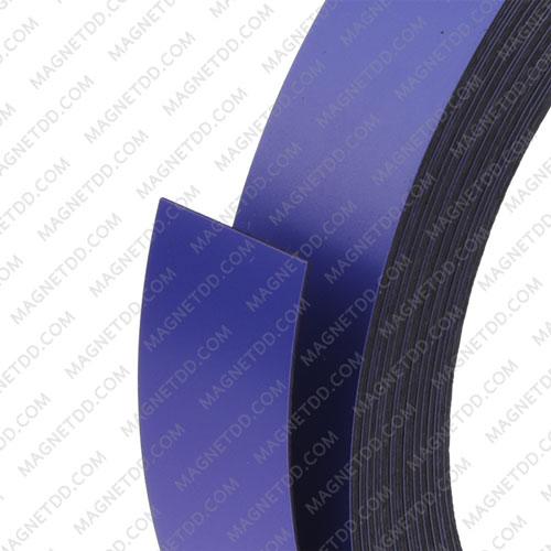 แม่เหล็กยาง เคลือบ PVC ขนาด 20mm x 0.5mm ยาว 10เมตร – สีม่วง แม่เหล็กถาวรยาง Flexible Rubber Magnets