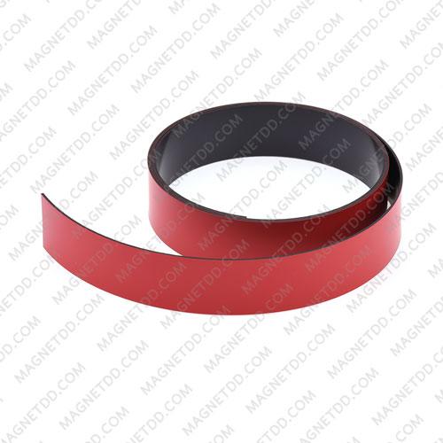 แม่เหล็กยาง เคลือบ PVC ขนาด 25mm x 1mm ยาว 1เมตร - สีแดง แม่เหล็กถาวรยาง Flexible Rubber Magnets