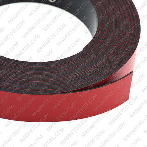 แม่เหล็กยาง เคลือบ PVC ขนาด 25mm x 1mm ยาว 10เมตร - สีแดง แม่เหล็กถาวรยาง Flexible Rubber Magnets
